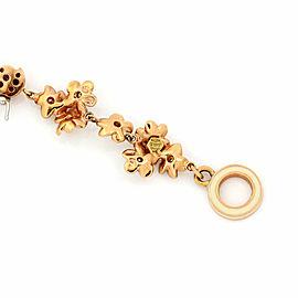 Roberto Coin Spring Diamond Enamel 18k Rose Gold Flower Butterfly Charm Bracelet