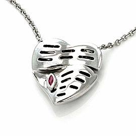 Roberto Coin 1.50ct Diamond 18k White Gold Split Heart Pendant Toggle Necklace