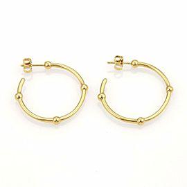 Tiffany & Co. 18k Yellow Gold Beaded Hoop Earrings