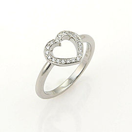 Tiffany & Co. Metro Diamond Platinum Heart Ring