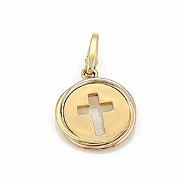 Cartier Trinity 18k Gold Stencil Cross Round Shape Charm
