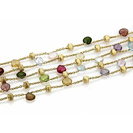 Marco Bicego Paradise 18k Yellow Gold Multi-Colored Gemstone 5 Strand Bracelet