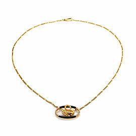 Carrera y Carrera Diamond Onyx Ruby 18k Yellow Gold Swan Pendant