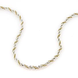 Tiffany & Co. Sterling Silver & 18k Yellow Gold 3mm Rope Chain Necklace