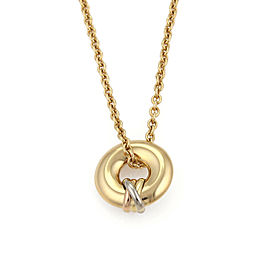Cartier Trinity 18k Tri Color Gold Circular Pendant Necklace