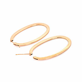 Roberto Coin 18k Rose Gold Oval Hoop Earrings