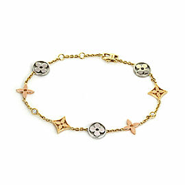 Louis Vuitton Idylle Blossom Diamond 18k Tri Gold Two Bracelet