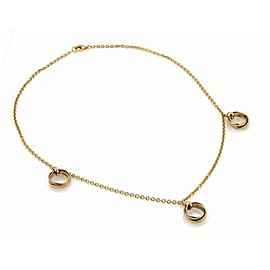 Cartier Trinity 18k Gold 3 Dangling Mini Rolling Charms Necklace