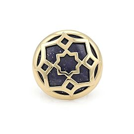 Tiffany & Co. Picasso Zellige 18k Yellow Gold Lapis Floral Ring Size 5.5