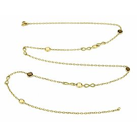 David Yurman Citrine & Smokey Topaz 18k Yellow Gold Long Necklace