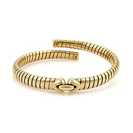 Bulgari Bvlgari 18K Yellow Gold Tubogas Hearts Open Flex Band Bracelet