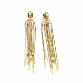 Carla Amorim 18k Yellow Gold Multi-Chain Spike Design Long Dangle Earrings