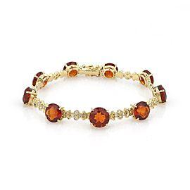 H.Stern 18.54ct Citrine & Diamond Fancy Link Bracelet
