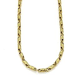 Bulgari Bulgari 18k Yellow Gold 3.5mm Fancy Link Chain Necklace​