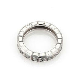 Chopard Diamond 18k White Gold 4.5mm Wide Cube Design Band Ring Size 5.75