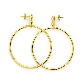 Louis Vuitton 18k Yellow Gold Large Fancy Hoop Earrings