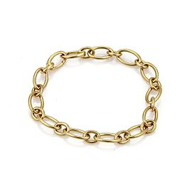 "Tiffany & Co. 18k Yellow Gold Oval Link Bracelet 7.25"" Long"