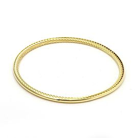 David Yurman 18k Yellow Gold Full Circle Cable Bangle