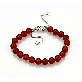 David Yurman Spiritual Carnelian Sterling Silver Beaded Bracelet