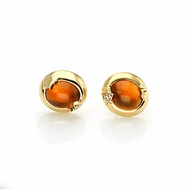 Pasquale Bruni 5.05 Citrine & Diamond 18k Yellow Gold Oval Stud Earrings