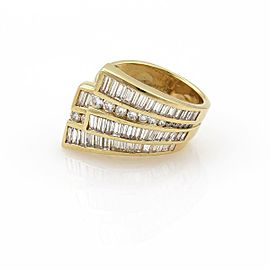 Charles Krypell 2.70ct Diamond 18k Yellow Gold Double Ribbon Band Ring