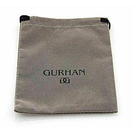 Gurhan Moon Beam Sterling & 24k Gold Black Diamonds Ring Rt. $1,275