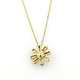 Tiffany & Co. Picasso 18k Yellow Gold Daisy Flower Pendant Necklace