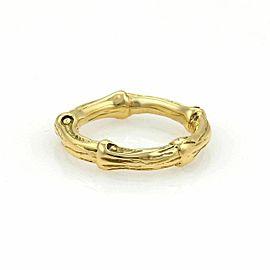 Tiffany & Co. Nature Bamboo 18k Yellow Gold Band Ring Size 5