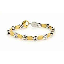"Baraka 18k Two Tone Gold Fancy Design Bracelet 8.5"" Long"