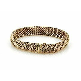 Tiffany & Co. 18k Yellow Gold 10mm Wide Woven Flex Bracelet