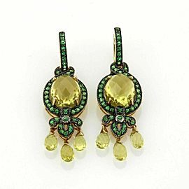 LeVian Citrine & Tszvorite 14k Yellow Gold Drop Dangle Earrings