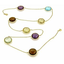 Roberto Coin IPANEMA Multicolor Gemstone 18k Yellow Gold Long Necklace