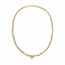 Bulgari 18k Yellow Gold 5mm Oval & Round Link Chain Engraved Clasp