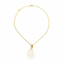 Gurhan Elements White Quartz 22k 18k Yellow Gold Pendant & Chain