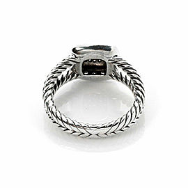 David Yurman Albion Petite Diamond Sterling Silver Cable Ring Size 6.5