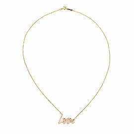 Tiffany & Co. Picasso Graffiti Diamond 18k Rose Gold 'Love' Pendant & Chain