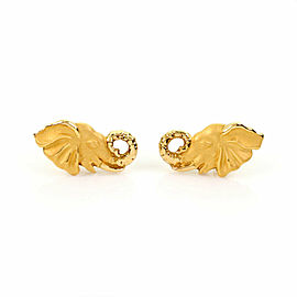 Carrera y Carrera 18k Yellow Gold Elephant Head Stud Earrings