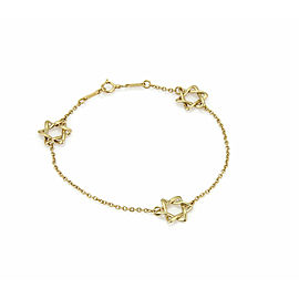 Tiffany & Co. 18k Yellow Gold 3 Star of David Charms Chain Bracelet