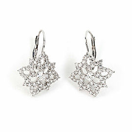 Hearts on Fire Mythical Leverback 1.17ct Diamond 18k White Gold Earrings