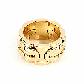 Cartier Art Deco Panther 18k Yellow Gold 11mm Band Ring Size 53 US 6.5