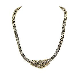 John Hardy Jaisalmer Sterling & 18k Gold Enhancer Weave Necklace