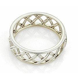 Tiffany & Co. Villa Paloma wide trellis sterling silver bangle