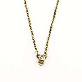 Judith Ripka Mini Dew Drop Diamond 18k Yellow Gold Necklace