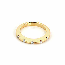 Roberto Coin Diamond 18k Yellow Gold 2mm Wide Band Ring Size 7