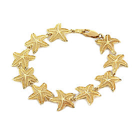 Filigree Starfish 14k Yellow Gold Bracelet