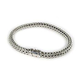 John Hardy Sterling Silver 6mm Wide Weave Link Bracelet
