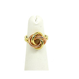 Retro 14k Rose & Yellow Gold 14K Gold Double Love Knot Ring