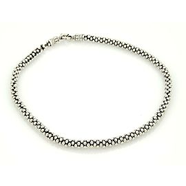 Caviar Sterling Silver 7mm Caviar Beaded Necklace