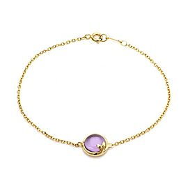 Tiffany & Co. Picasso Olive Leaf Amethyst 18k Yellow Gold Chain Bracelet