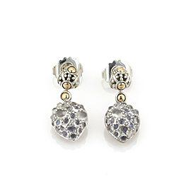 John Hardy Jaisalmer Sterling 18k Gold Moonstone Hearts Dangle Earrings